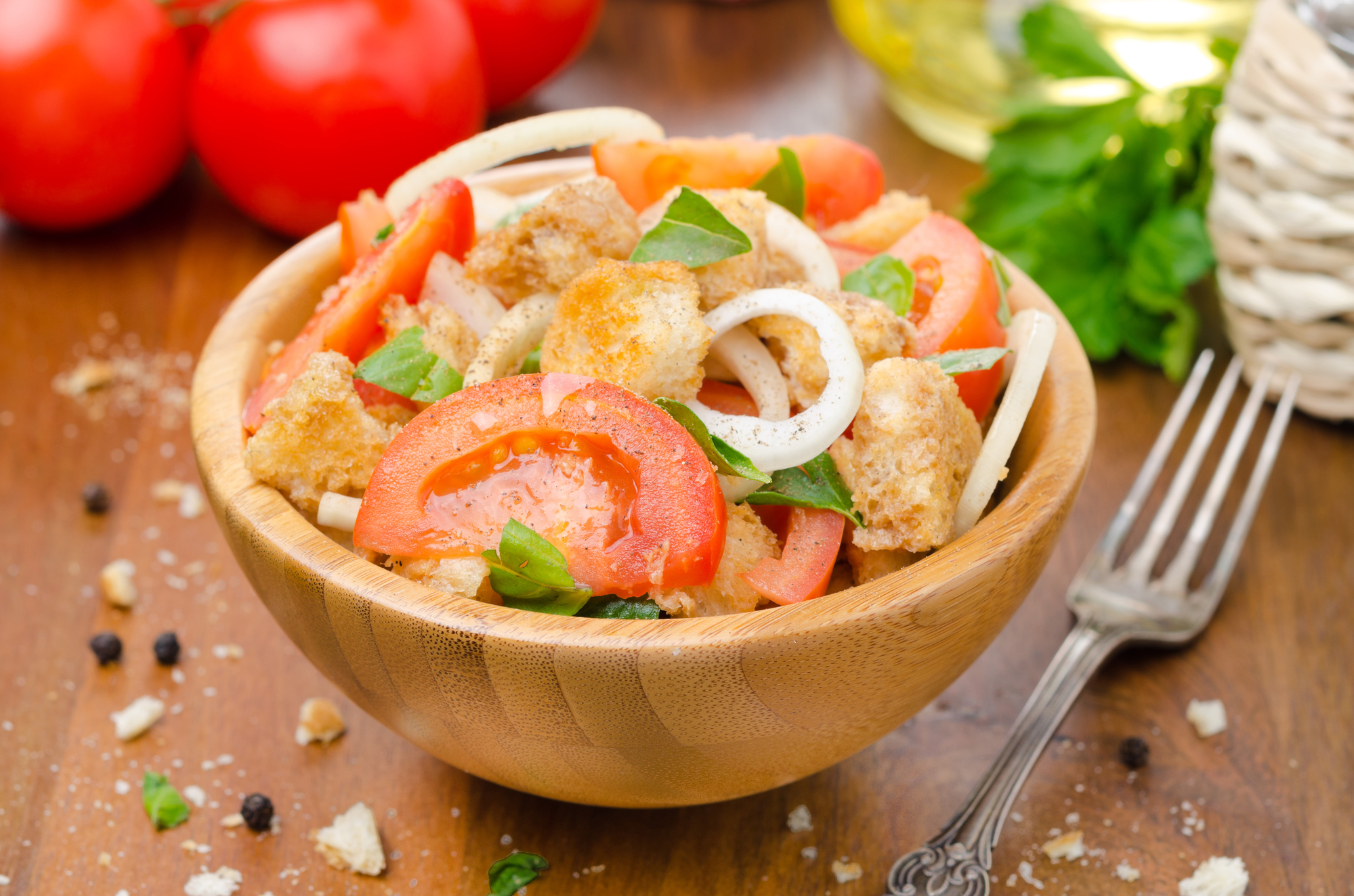 Кухни мира: Panzanella или итальянский хлебный салат