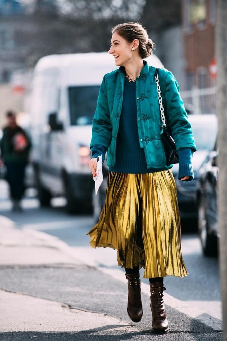 Базовые вещи на зиму 2020: Плиссированная юбка