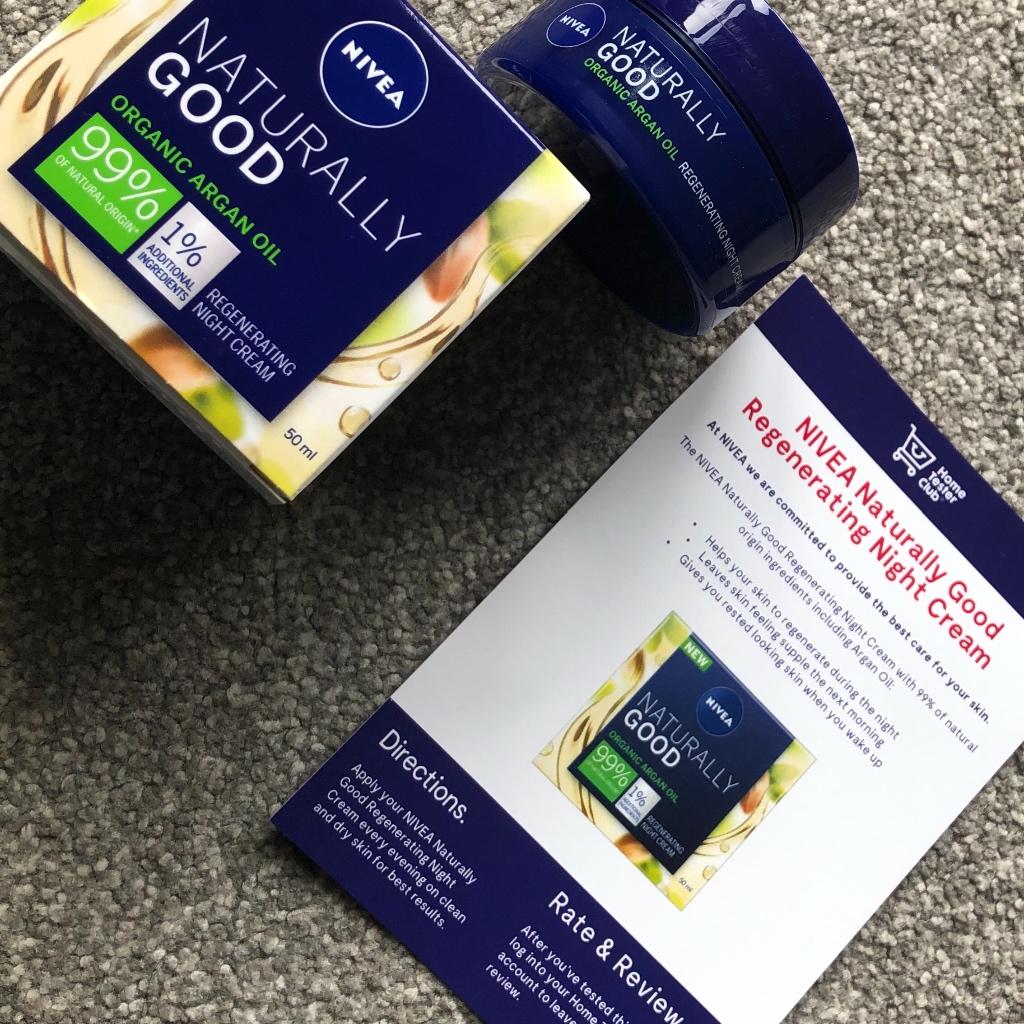 Nivea, Naturally Good, Ночной крем с маслом арганы
