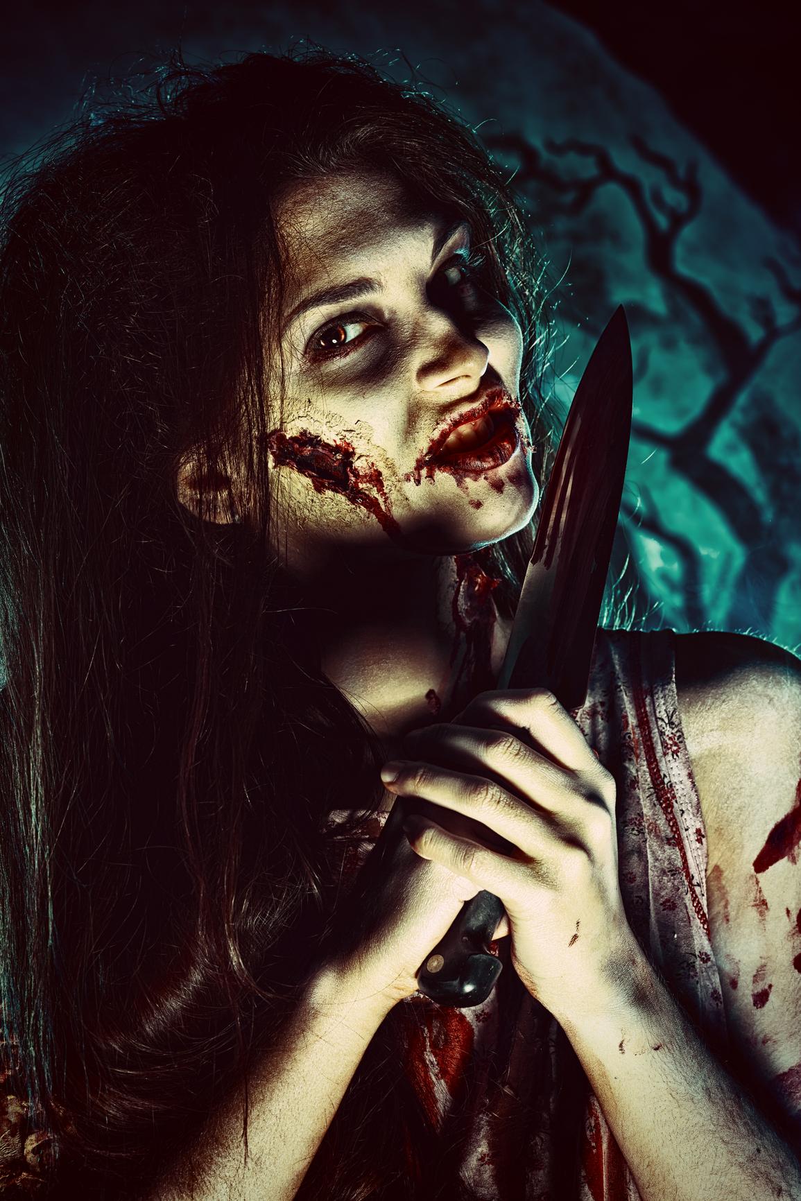 Макияж на Хэллоуин должен быть по-настоящему страшным