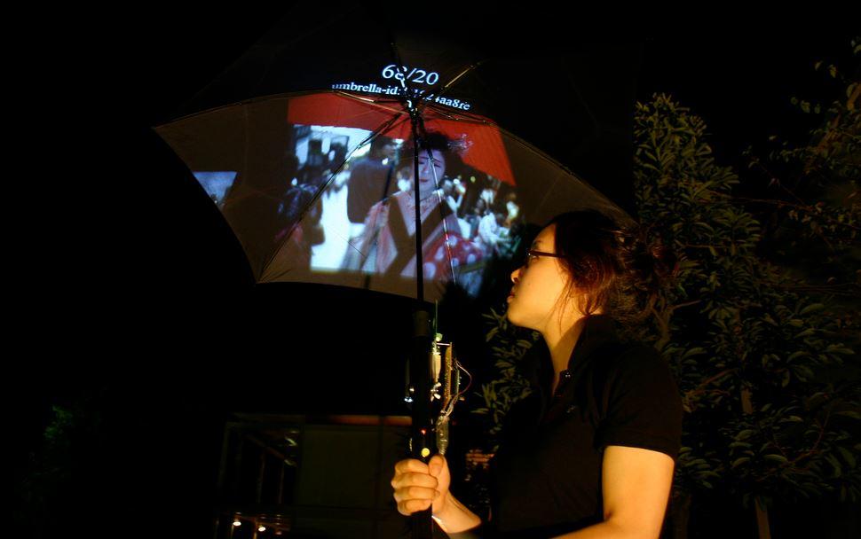 Зонт-проектор