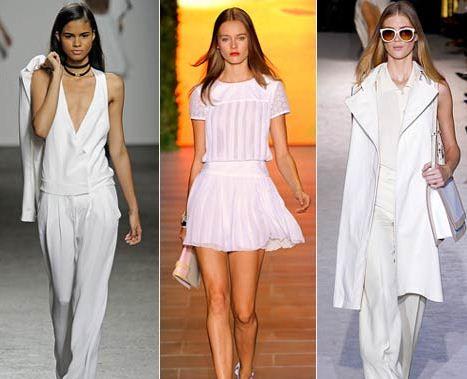 белый цвет в одежде лето 2016