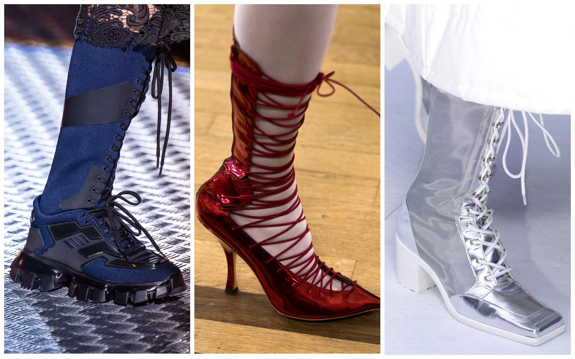 Викторианская шнуровка будет актуально смотреться в этом сезоне