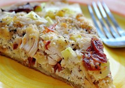 киш лорен с курицей и грибами фото рецепт