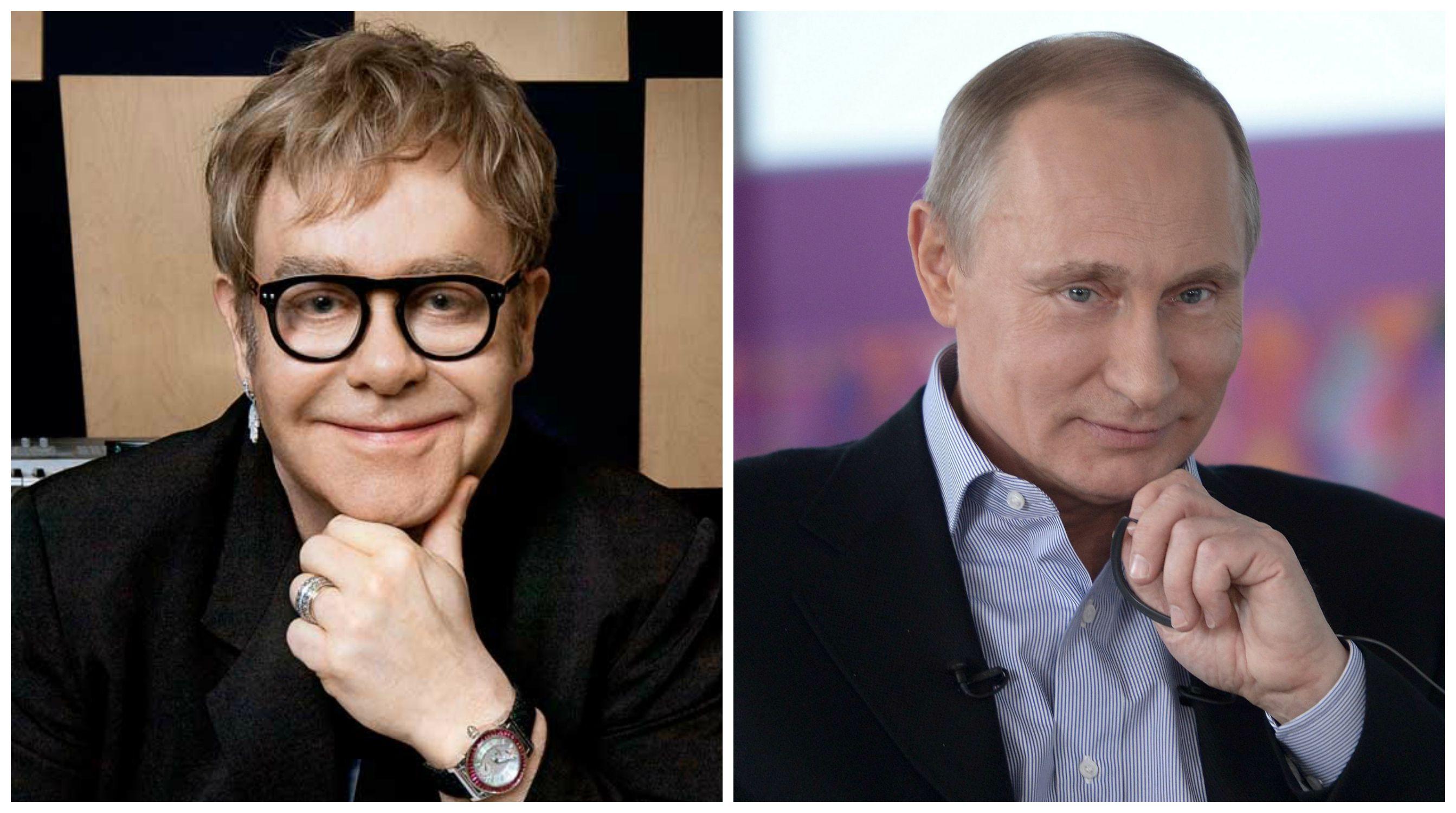 Певец Элтон Джон готов к встрече с президентом России Владимиром Путиным
