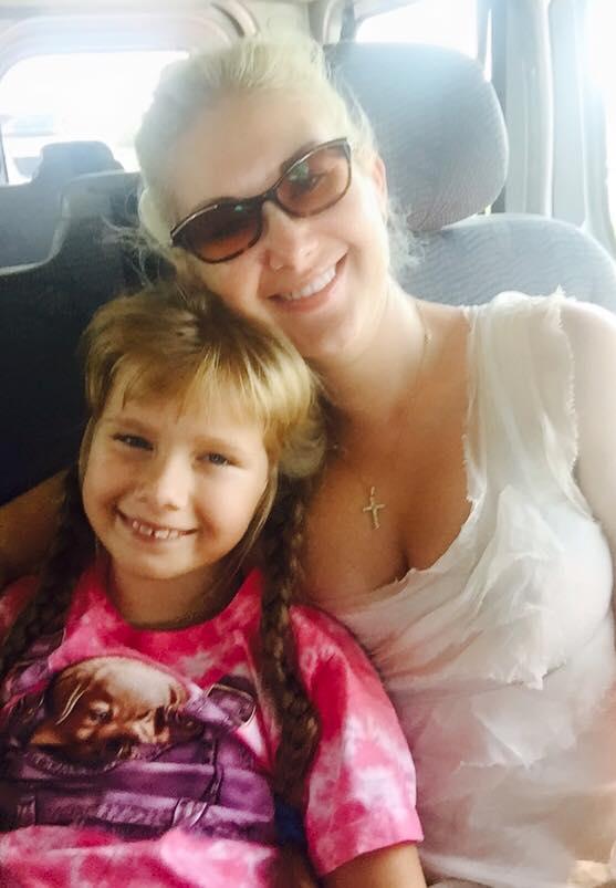 Бужинская с дочкой