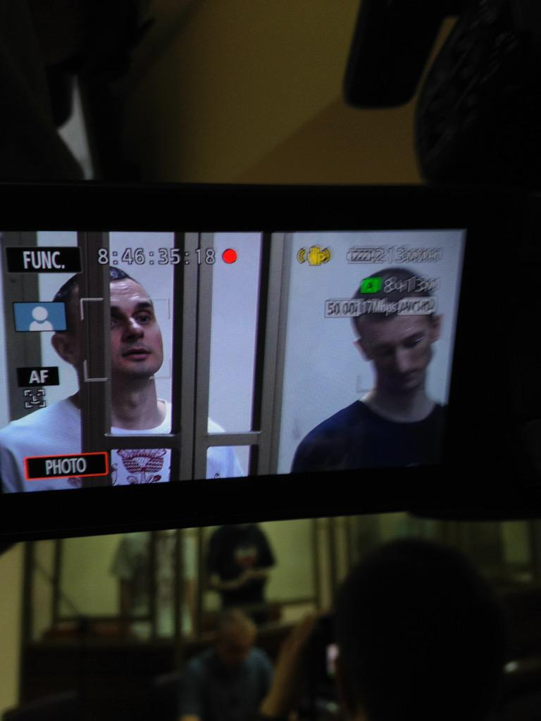 Сенцов и Кольченко в суде