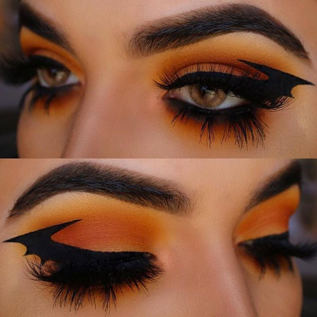 Макияж глаз на Хэллоуин
