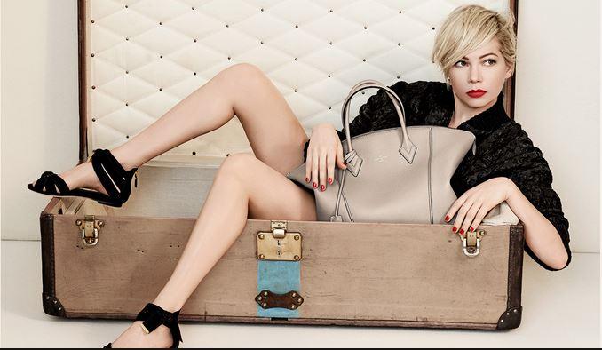 Мишель Уильямс в рекламной кампании Louis Vuitton