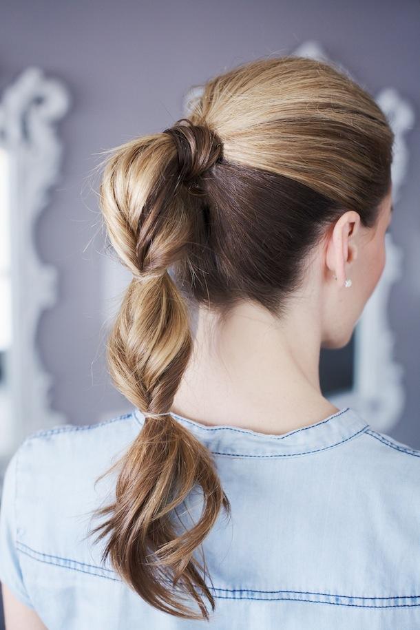 Прически на средние волосы интересные хвосты
