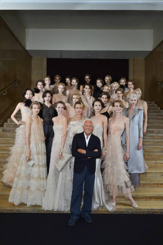 Дизайнер Джорджио Армани представил свою коллекцию на Неделе высокой моды в Париже