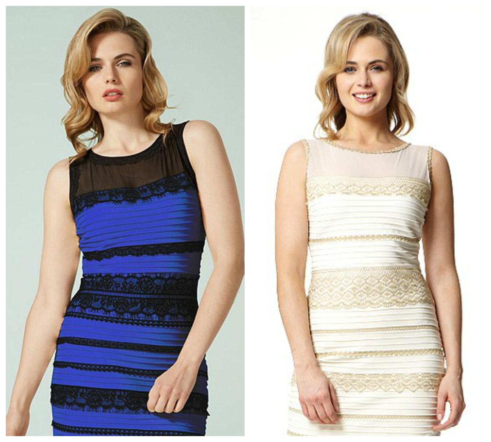 Платье сине черное или белое с золотым фото