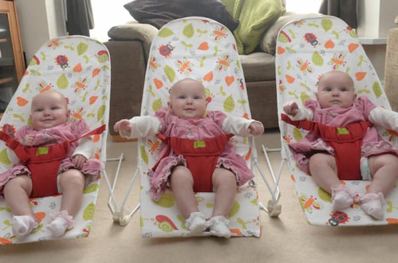 У американки родились три однояйцовые близнеца