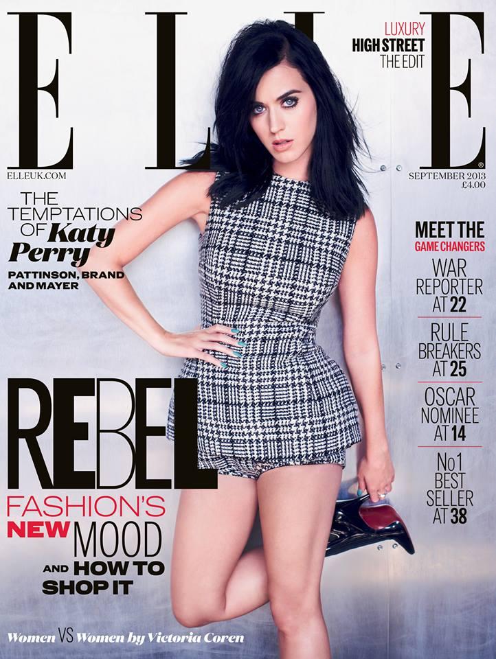 Модный дебют: Кэти Перри на обложке британского Elle (сентябрь 2013)