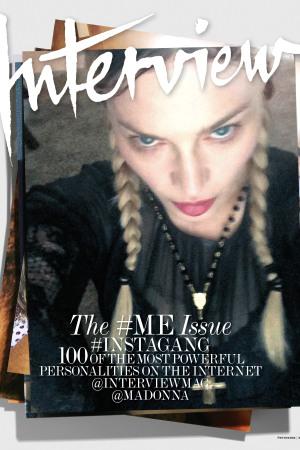 Селфи Мадонны на обложке модного глянца