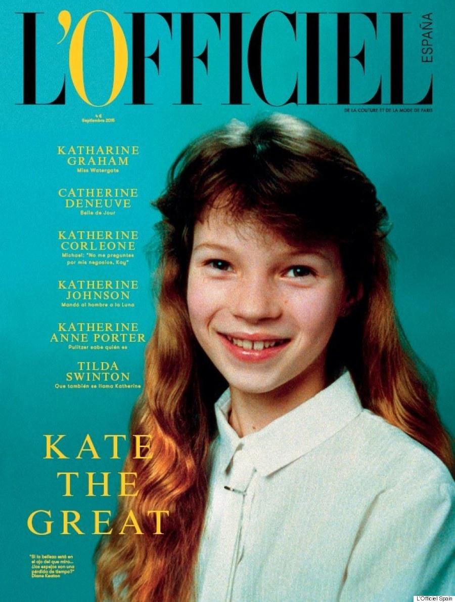 Школьница Кейт Мосс на обложке L'Officiel Spain