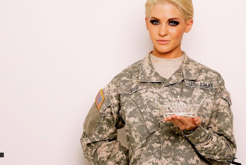 Претендентка на корону Мисс Америка 2014 Тереза Вейл - сотрудница Национальной гвардии
