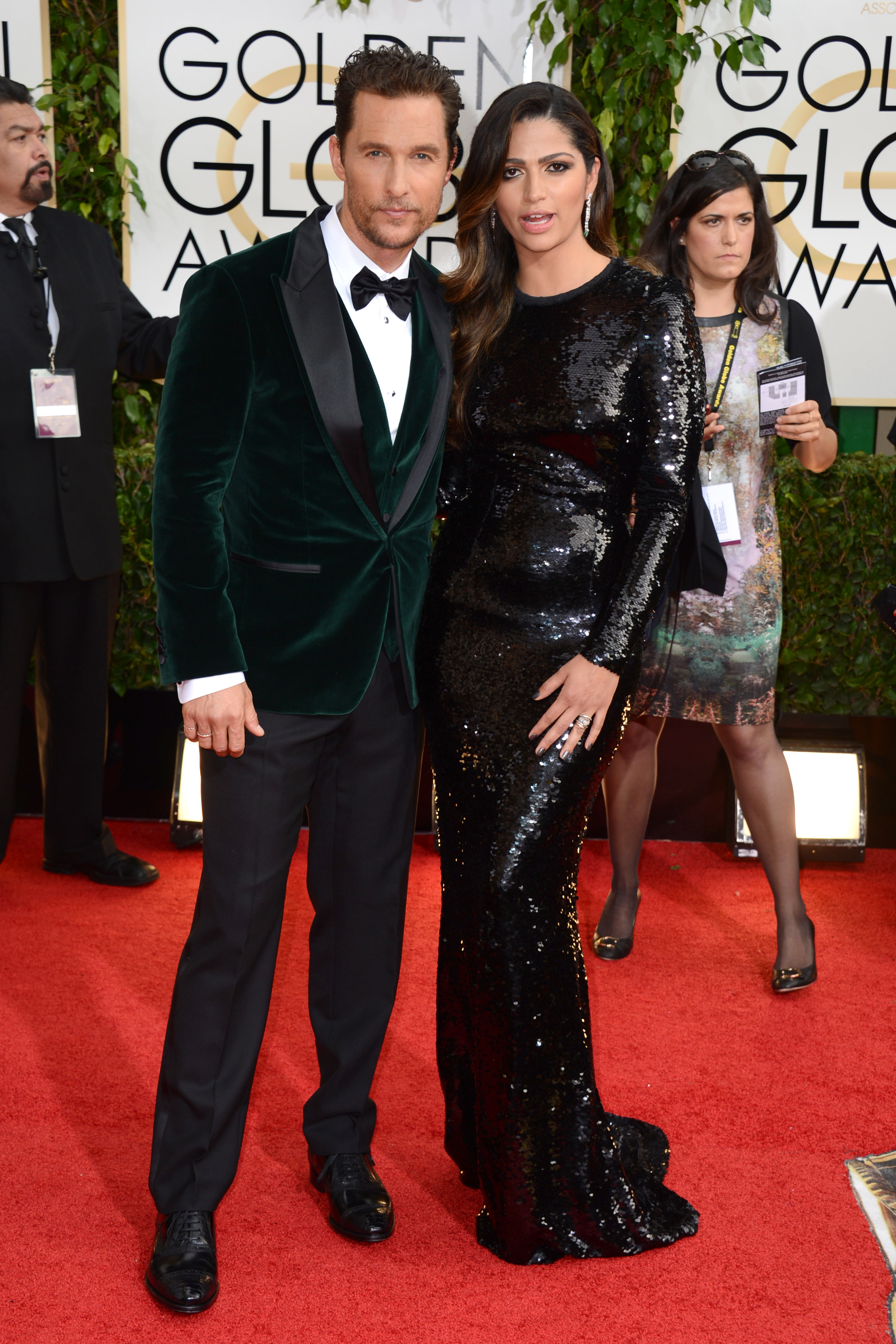Актер Мэттью МакКонахи и его жена-модель Камила Алвес