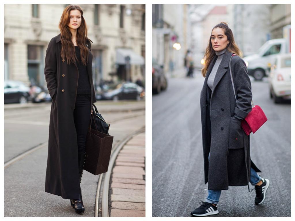 Макси-пальто - теплый вариант модного лука