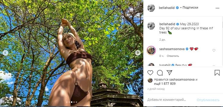 Супермодель Белла Хадид сверкнула фигурой в откровенном бикини