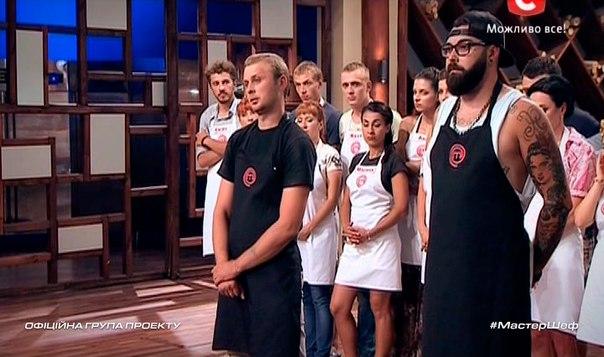 МастерШеф 5 сезон: Шоу покинул Андрей Дмитренко (слева)
