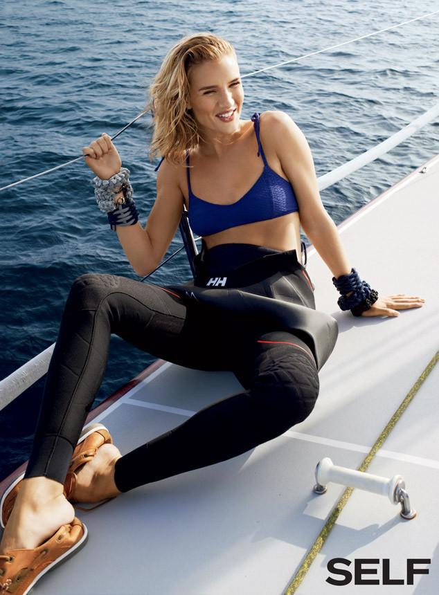 Модель Рози Хантингтон-Уайтли в морской фотосессии для Self