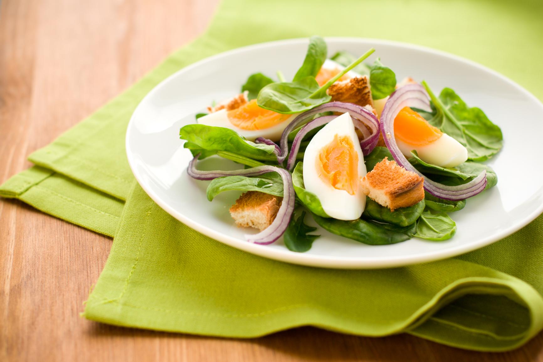 рецепты салатов со шпинатом с фото