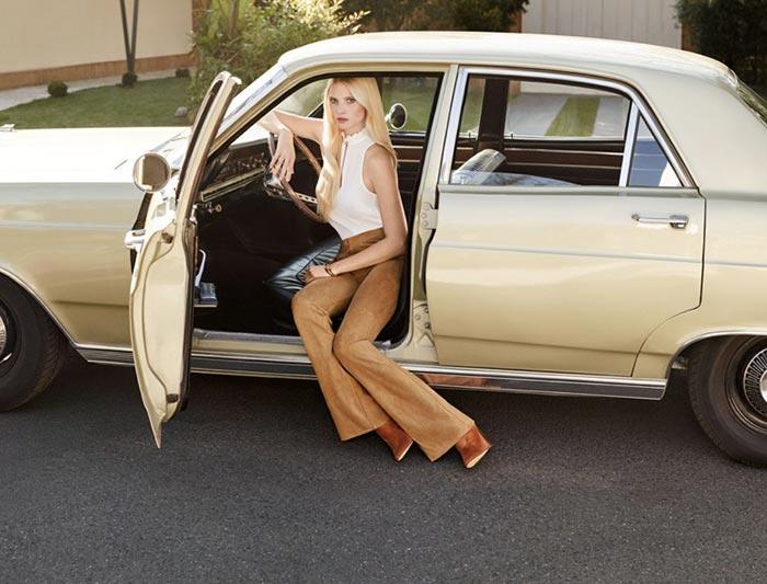 Модель Лара Стоун в рекламной кампании H&M