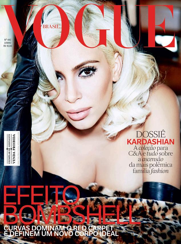 Телезвезда Ким Кардашян в пикантной фотосессии для Vogue Brazil
