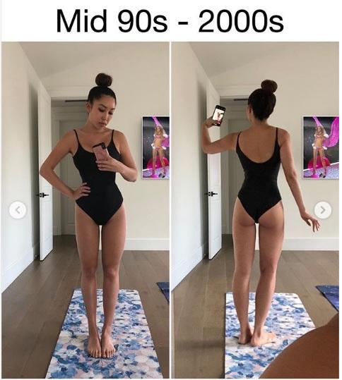 Идеальная фигура в 90-2000