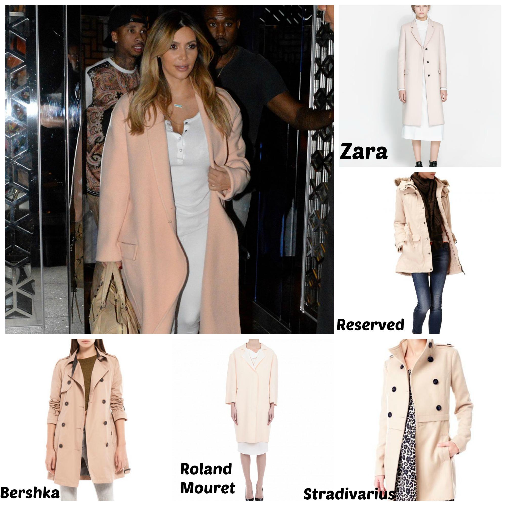 Розовое пальто в киевских магазинах