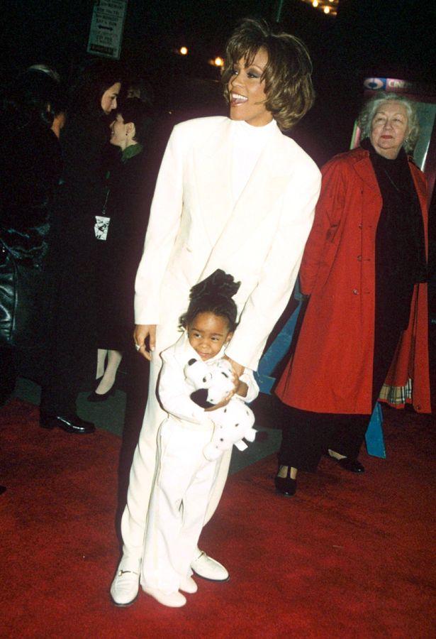 Уитни Хьюстон с трехлетней Бобби Кристиной Браун (1996 год)
