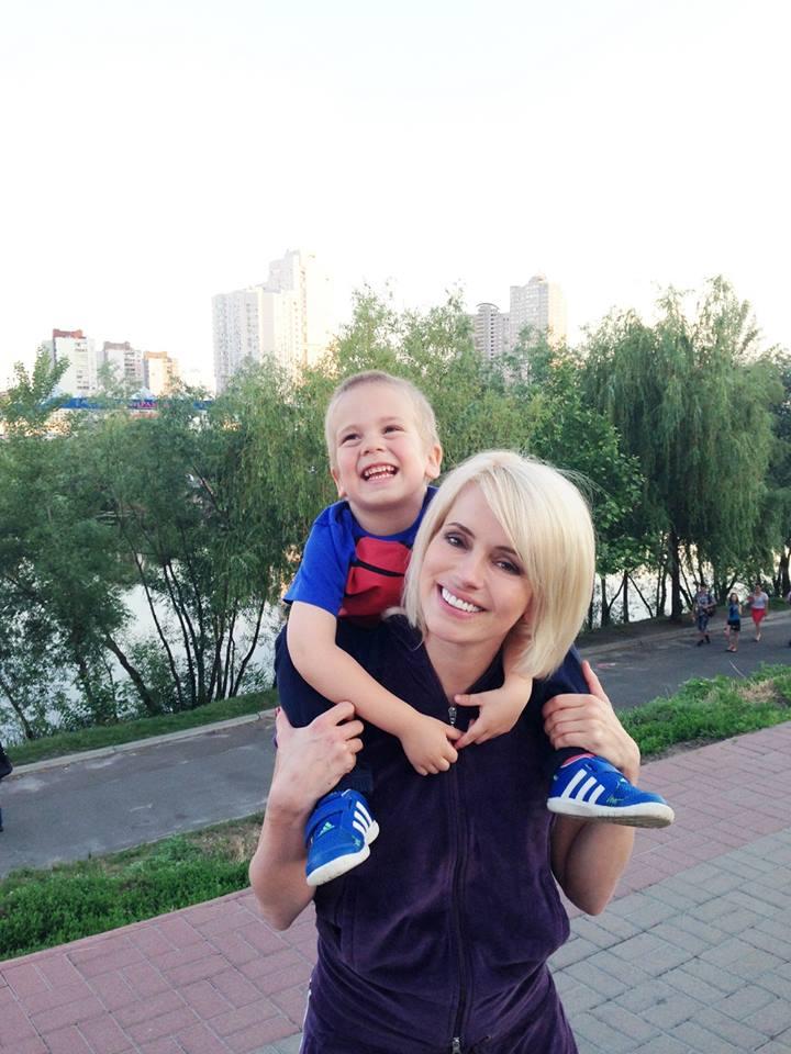 Оксана с сыном