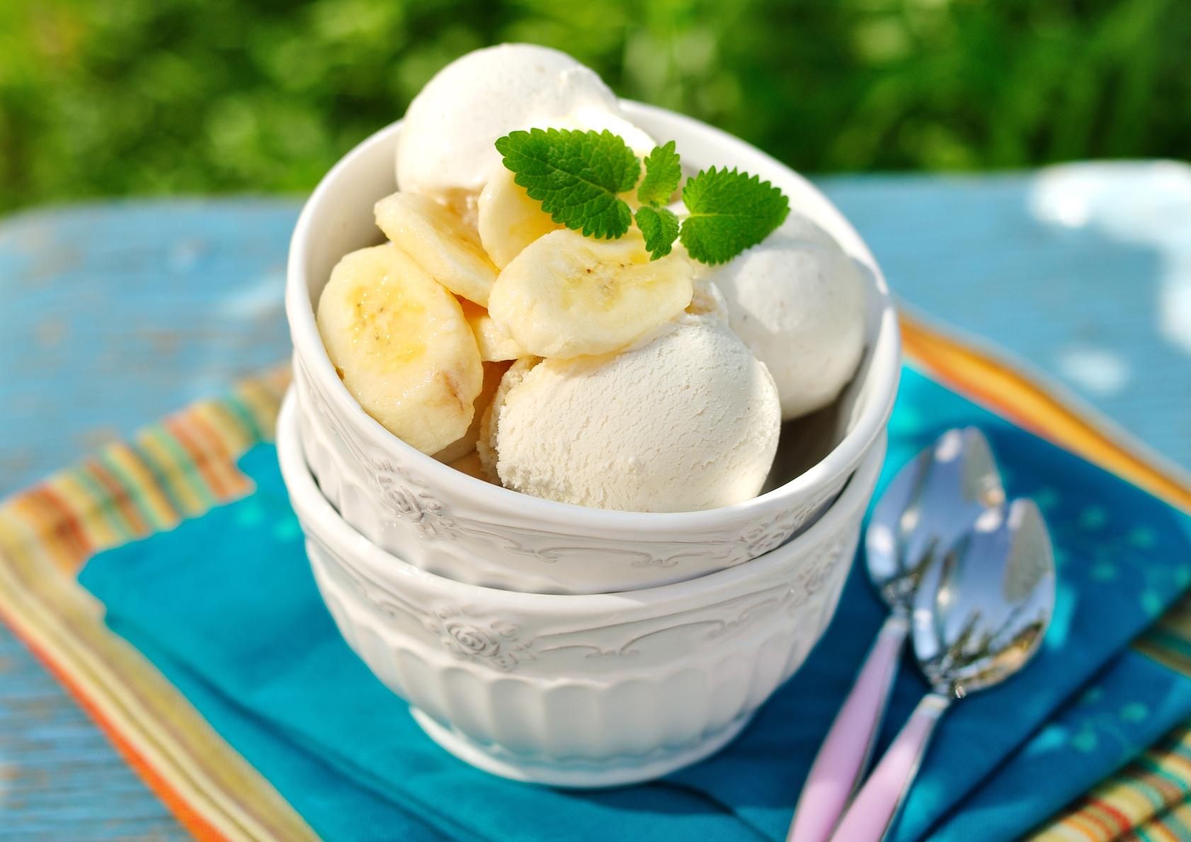 Рецепт бананового мороженого в домашних условиях