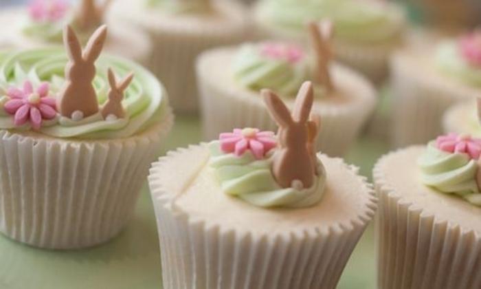 Капкейки с кроликами на Пасху