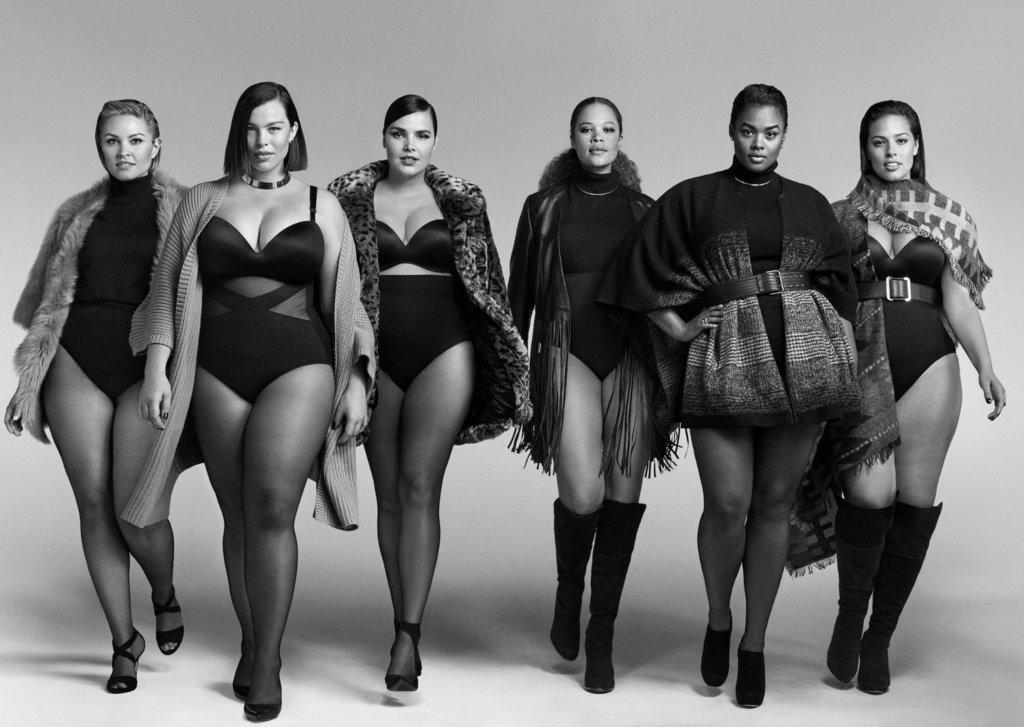 Пышнотелые модели в одежде бренда  Lane Bryant