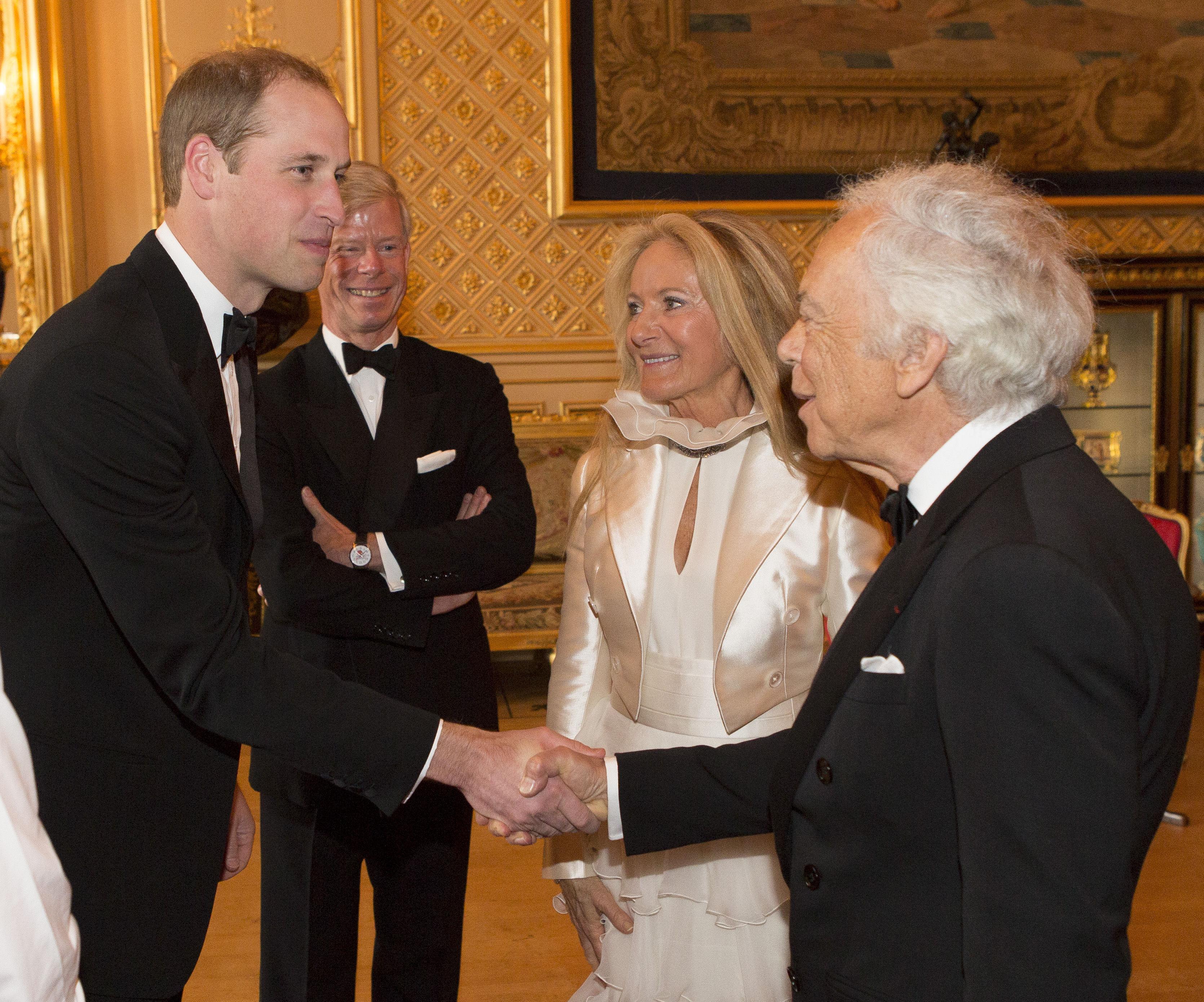 Дизайнер Ральф Лорен с женой познакомился с принцем Уильямом