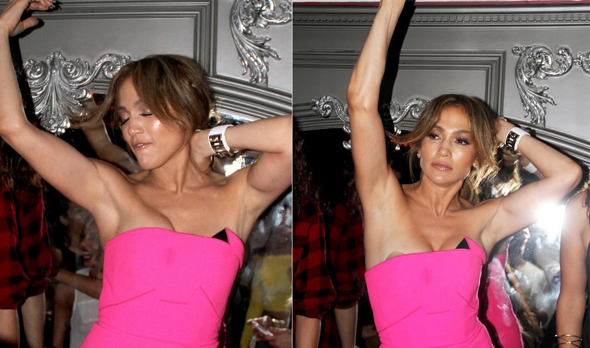 Платье не выдержало жарких танцев певицы Дженнифер Лопес
