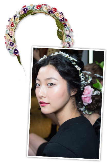 Аксессуары для волос: цветочные венки