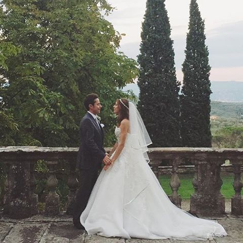 Жених и невеста, на свадьбе у которых побывала Линдси