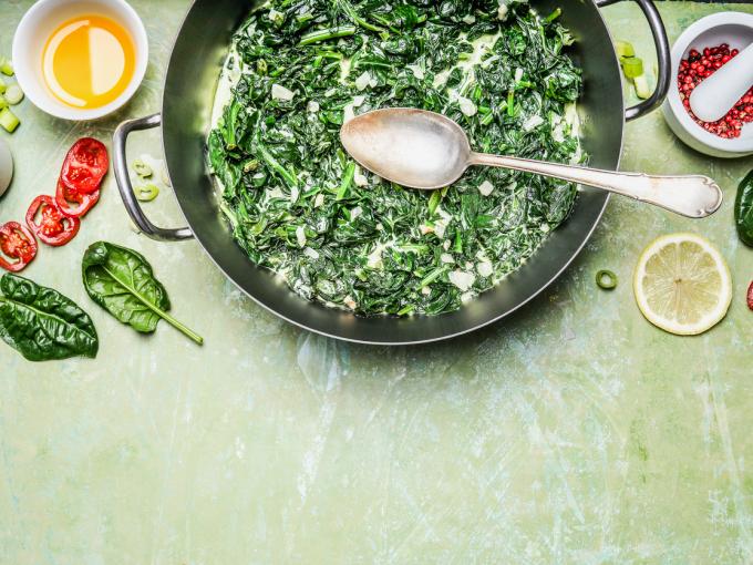 Сливочный шпинат: рецепт