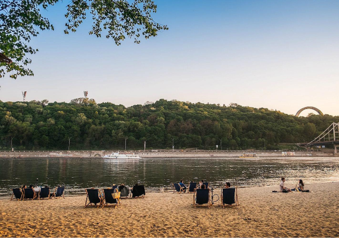 В Киеве много бесплатных пляжей