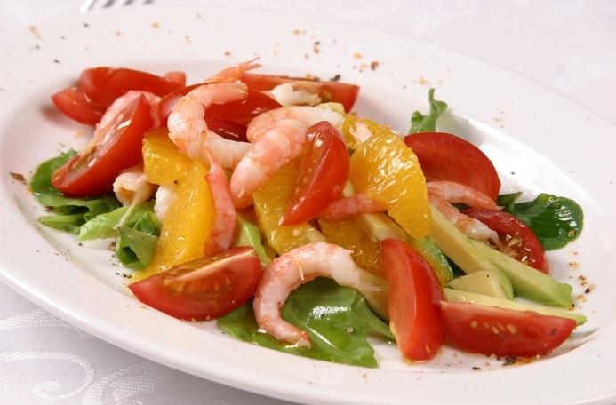быстрые салаты с креветками рецепты с фото
