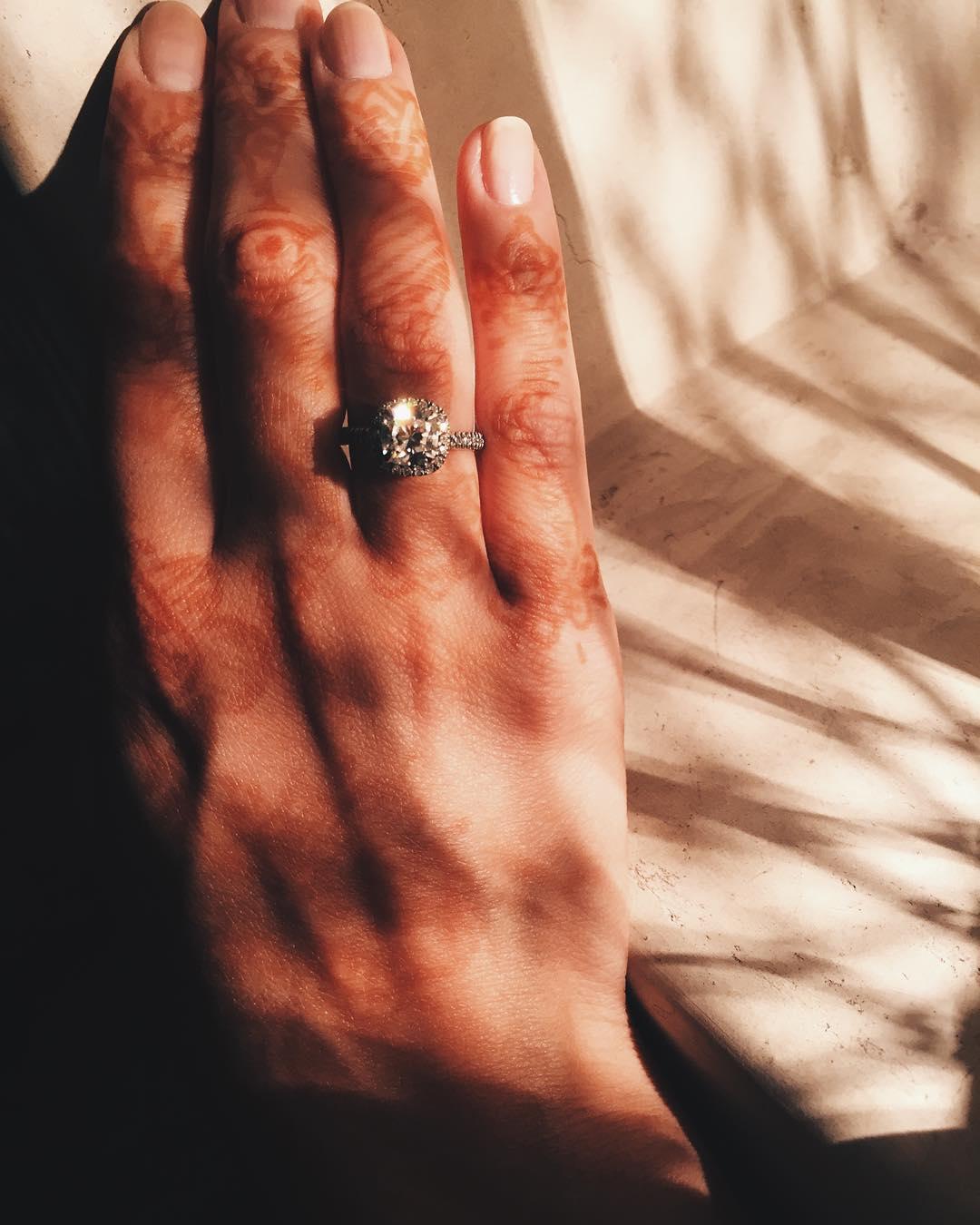 Помолвочное кольцо Инги