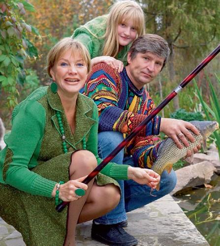 Елена Проклова с мужем Андреем Тришиным и дочкой Полиной