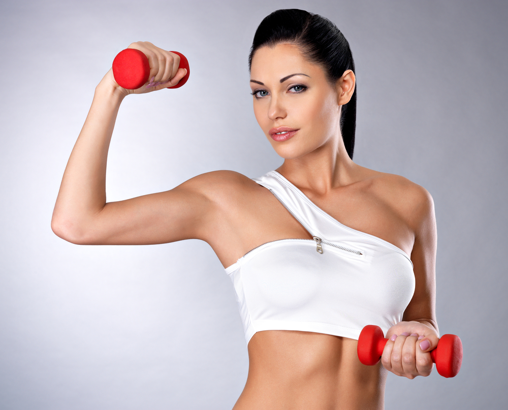 упражнение гантелями для похудения плеч