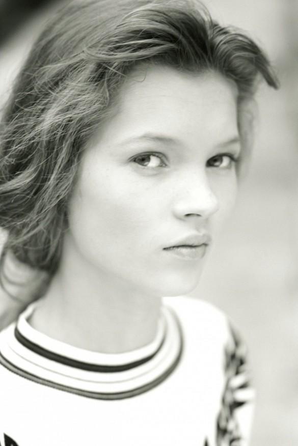 Первая фотосессия 14-летней Кейт Мосс