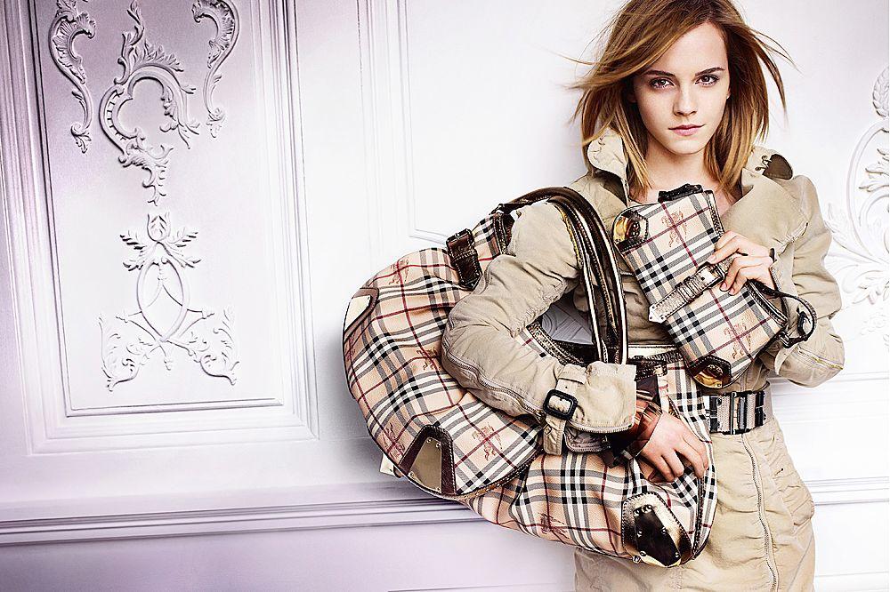 Актриса Эмма Уотсон в рекламной кампании Burberry – одного из самых любимих мошенниками брендов