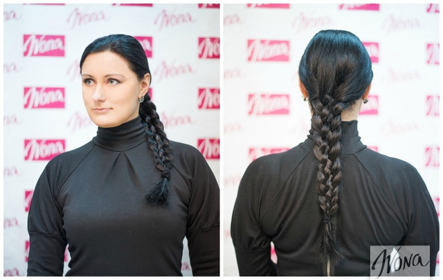 На длинных волосах это плетение будет выглядеть невероятно красиво