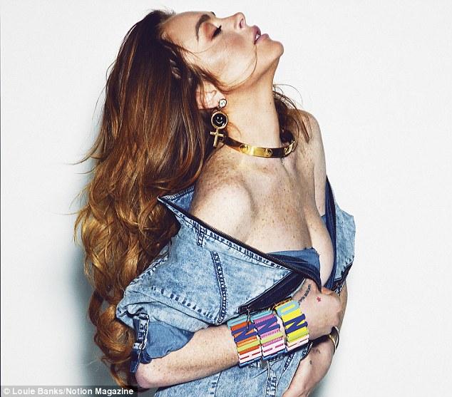 Линдси Лохан в откровенной фотосессии для журнала Notion